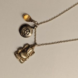 Satya Ganesha Om Citrine necklace
